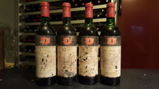1972 Chateau Mouton Rothschild, Pauillac 2eme Grand Cru Classé - 4 bottles (75cl)