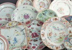 Famille rose plates - China - 18th and 19th century