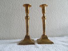 Set Louis-seize brass candlesticks-France-1790-1820.