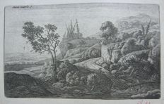 Antonie Waterloo (1609-1690) - Berglandschap - ca. 1700