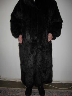 Black luxury quality Arctic fox fur coat