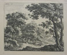 Anthonie Waterloo (1609-1690) - Boslandschap - ca. 1750