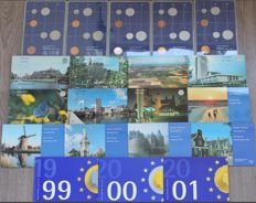 The Netherlands – Year collections from 1982 through 2001 complete (20 different)