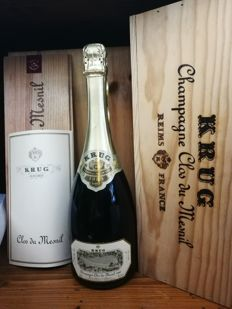 1985 Krug Clos Du Mesnil, Champagne - 1 bottle (75cl) in original wooden box