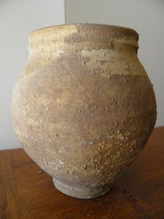 Grey terracotta pot - Gallo-Roman - height 130 mm