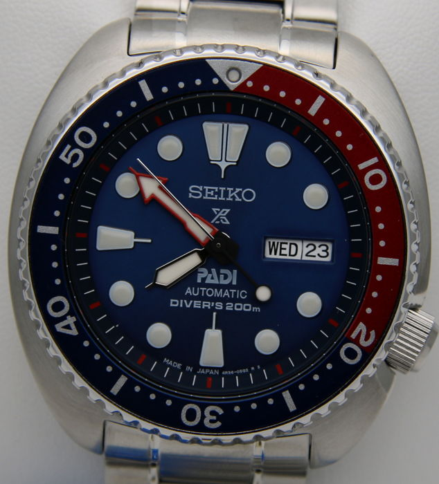 "Seiko — ""Turtle"" Automatico Diver's 200m ""Special Edition"" PADI — SRPA21J1 Made in Japan — Uomo"