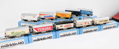 Märklin H0 - 4409/4428/4530/Etc. - Ten goods cars