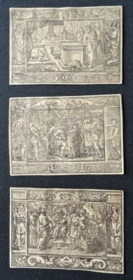 Anonymous, German Bible (Old Testament); 3 wood engravings - 16th century