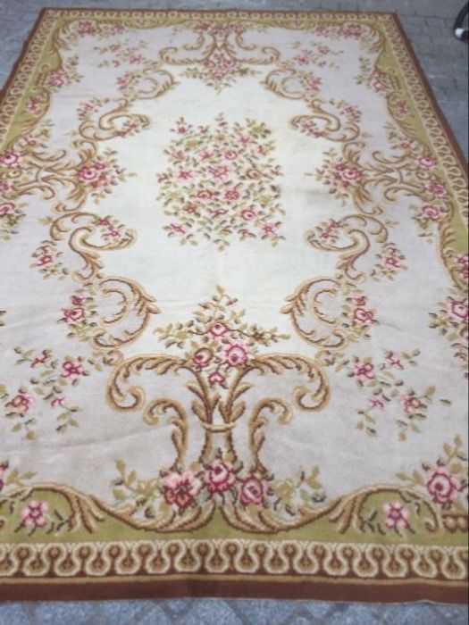 tapis ancien francais aubusson style savonnerie points nou 200x300 cm catawiki. Black Bedroom Furniture Sets. Home Design Ideas