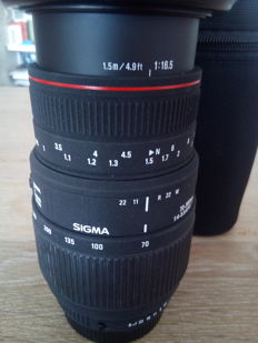 SIGMA for SA / KPR PENTAX 70 X 300 with uv 58mm filter.