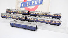 "Liliput H0 - 820 - 5-piece Wagon Set ""Rheingold"" of the DRG"