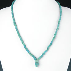 Necklace with Roman turquoise glass beads - 51 cm