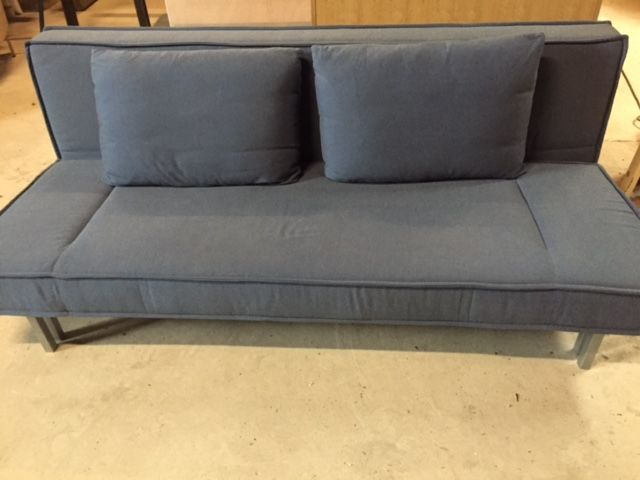 rolf benz basix sofa bed in bluish grey upholstery