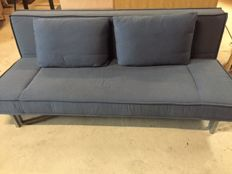 Rolf Benz – 'Basix' sofa bed in bluish grey upholstery