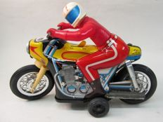 "Daiya, Japan - 25 cm of length - ""Racing Motorcycle"" tin/battery, 1970/80"