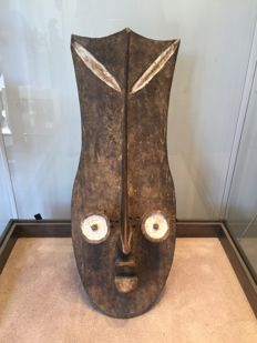 Large decorative wooden mask - GREBO - Ivory Coast