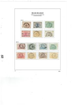 Belgium 1880/2013 – Collection railways stamps with all blocks, in davo album