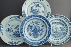 Blue-white plates - China - Qing dynasty (1644-1912)