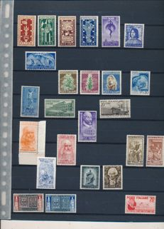 Italy 1949 - 1952, selection of stamps