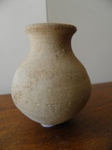 Grey terracotta flask - Gallo-Roman - height 80 mm