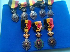 Lot of Belgian medals