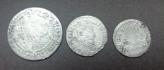 Poland - Lot 3 coins - 1587/1632 - Sigismund III Waza - silver