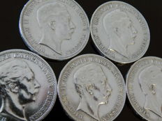 German Empire, Prussia - 3 Mark 1908, 1909, 1910, 1911, 1912 A - silver