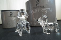 Swarovski - Poodle standing - Scottish Terrier.