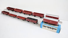 Märklin H0 - Ten various goods wagons