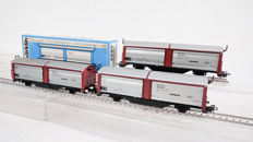 Märklin H0 - 4633 - Three sliding-wall cars of the DB