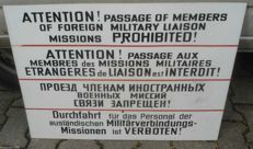 Original sign of permanent prohibition of passage for military missions