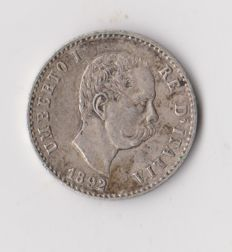 Kingdom of Italy - 50 Cents 1892 Umberto I - silver