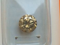 1.52 ct Brilliant cut Diamond NATURAL UNTREATED FANCY GREENISH YELLOW  ** NO RESERVE PRICE **