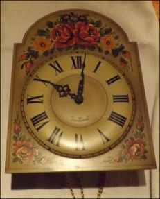 Black Forest Clock - hand painted - 1950