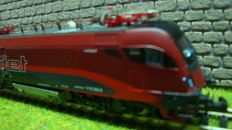 Hobbytrain N - H25206 - Railjet set electric loc Spirit of Germany ÖBB with 3 wagons