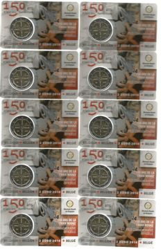 Belgium – 2 Euro 2014 '150 Years Red Cross' (10 pieces) in Coin cards
