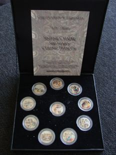 "Italy - 50 Lira ""Sistine Chapel 500 years ceiling frescos"" (10 different coins) coloured"