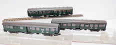 Fleischmann H0 - 5127/5128/5129 - Three Umbau Passenger Coaches of the DB