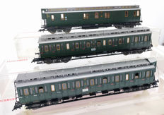 Fleischmann H0 - 5086/5087/5088 - Three ornate passenger coaches of the DRG