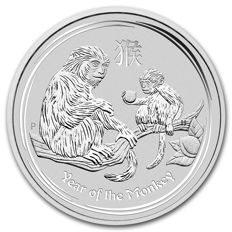 Australia - 1 AUD - 1 piece 999 silver coin - Perth Mint -Lunar Year of the Monkey 2016 - 999 silver