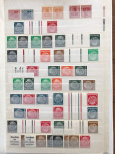 German Reich 1900/1940 – Collection with combinations on stock sheets.