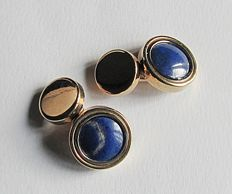 Cufflinks in 18 kt gold with lapis lazuli – 8.6 g