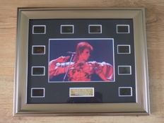 "David Bowie "" Ziggy Stardust "" framed film cell display."