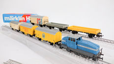 Märklin H0 - 3078 - Diesel locomotive DHG-500 and 6 goods wagons