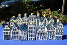 Goedewaagen - Lot with 14 KLM houses (Bols) Delft blue
