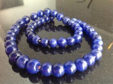 Sapphire necklace, 52 grams, 45 cm. Yellow gold, 18 kt/750 clasp.