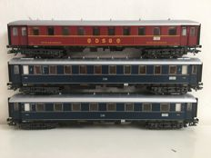 Märklin H0 - from set 29845 - 3 express trains of the DB, with interior lighting