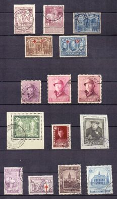 Belgium 1883/1948 - advanced collection on Davo album sheets - between OBP 38 and 791.