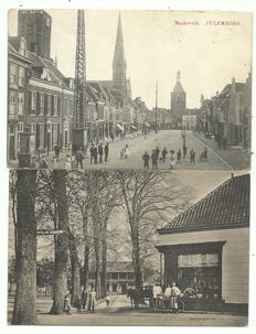 Lot consisting of 82 postcards from Dutch cities and towns