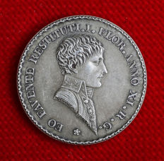 France - Napoleon I - Token 'Agents de Change de Lyon' 1803 by Mercié - Silver